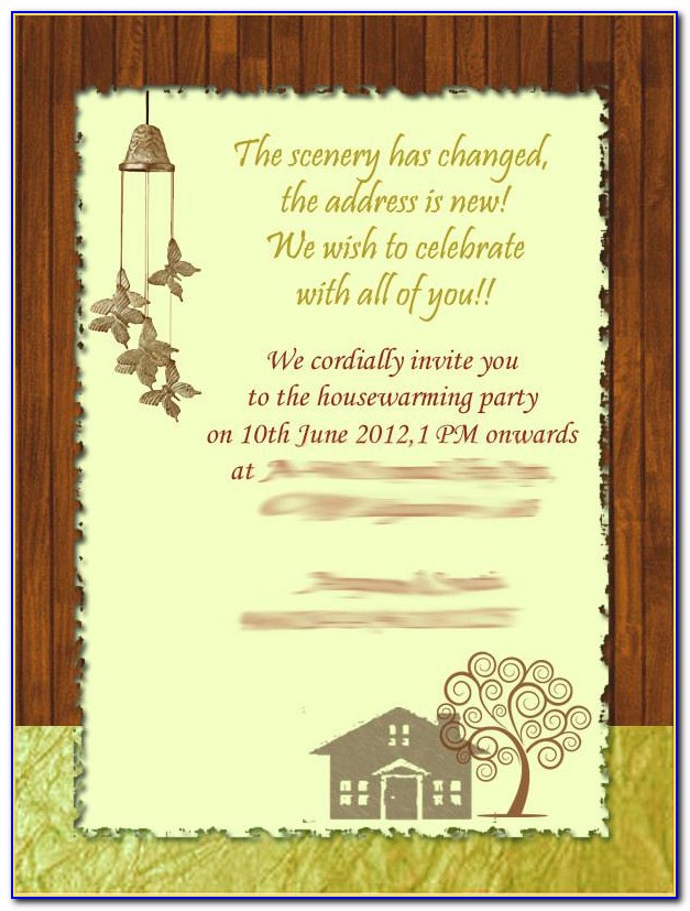 House Warming Ceremony Invitation Cards Online