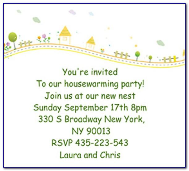 Housewarming Party Invitation Card Template