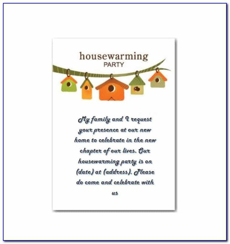 Housewarming Party Invitation Cards