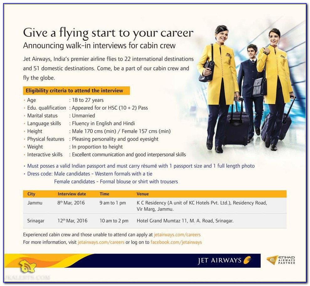 How To Apply For Airhostess Job After 12th