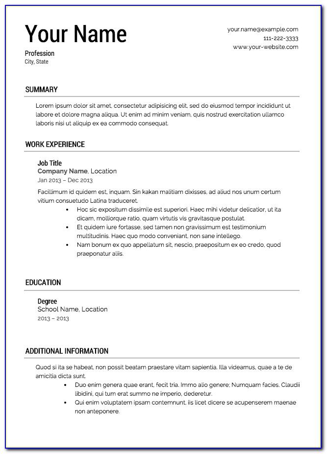 How To Create A Resume Outline