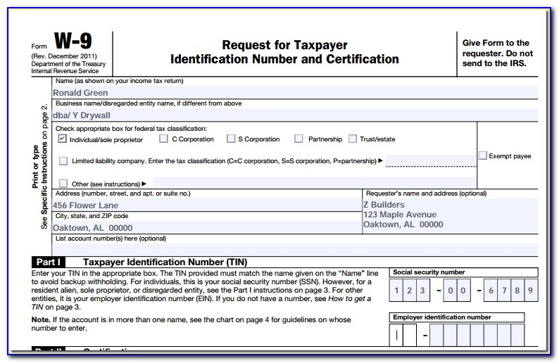 How To Fill Out A 1099 Form 2017
