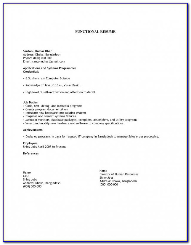 How To Make A Simple Job Resume