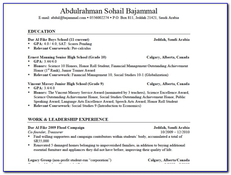 How To Make Best Resume For Fresher