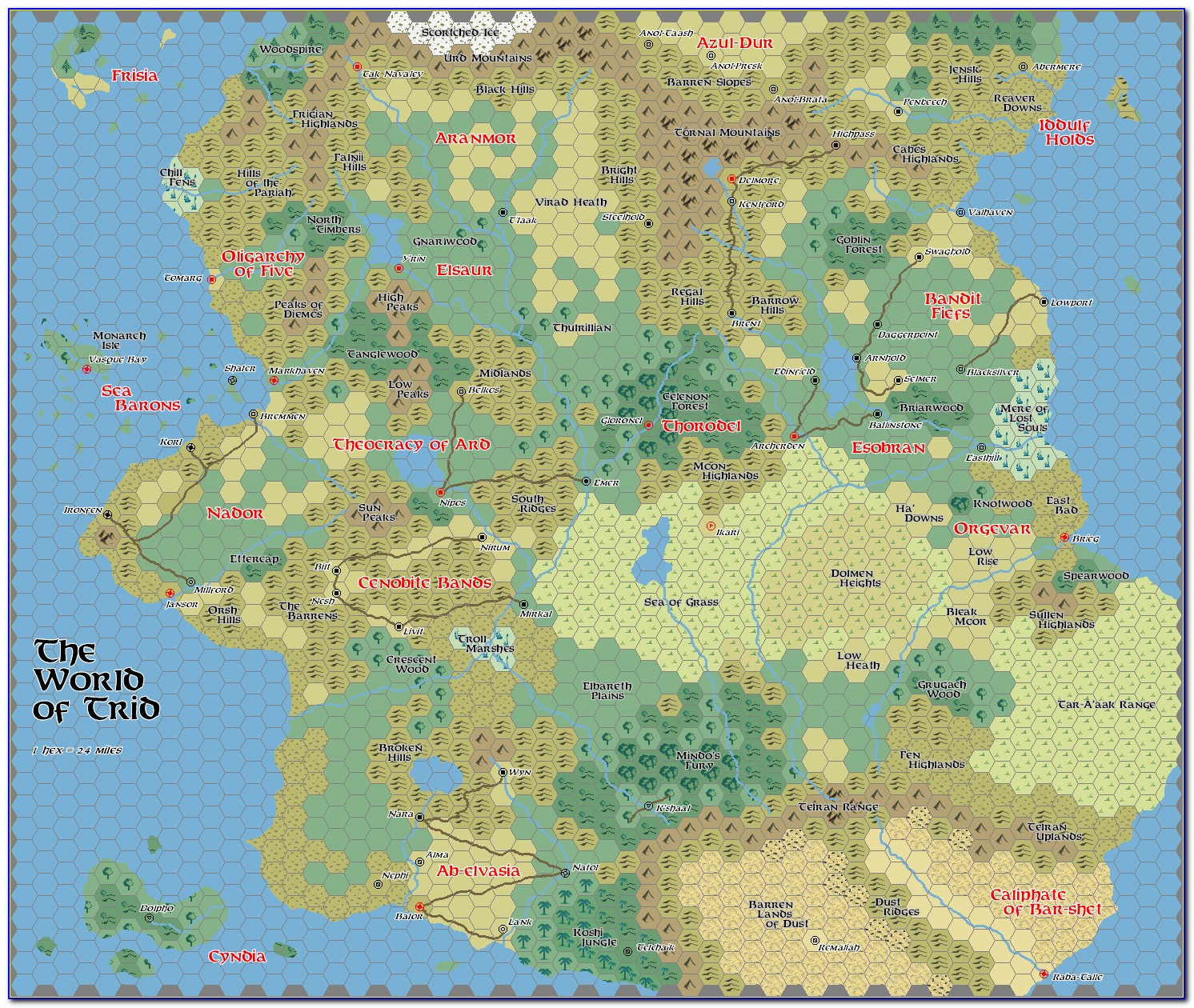 How To Make Hex Grid Map