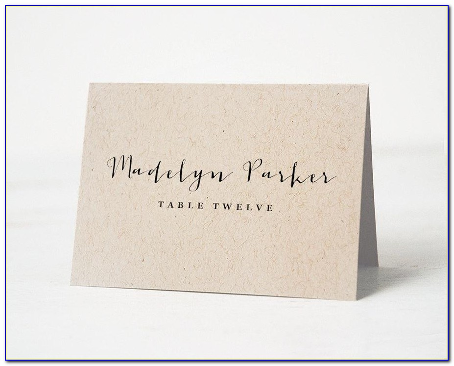 How To Make Name Place Cards For Wedding
