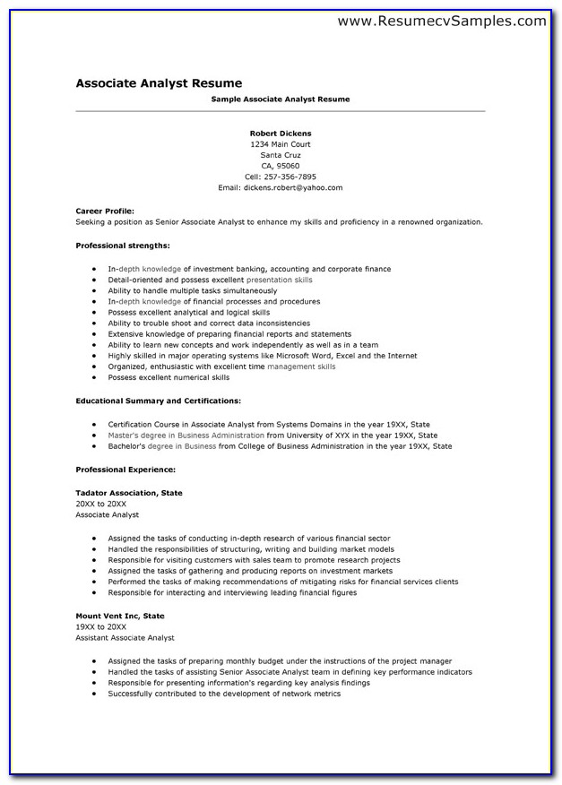 How To Make Resume For Job With Experience