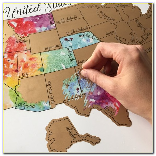 How To Make Watercolor Scratch Off Map