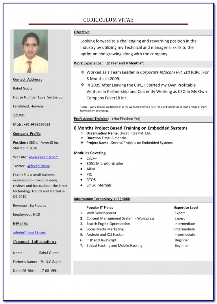 How To Prepare My First Resume