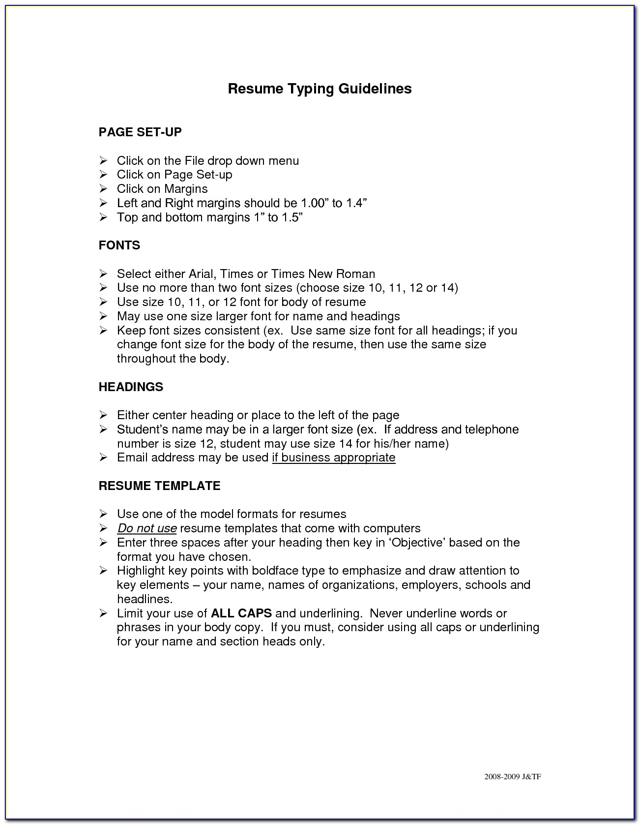 How To Prepare Resume For Job Fair