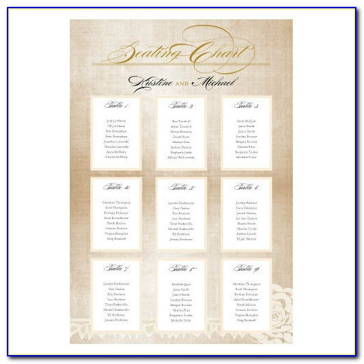 How To Print Seating Cards For Wedding