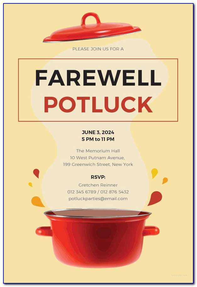 How To Write A Potluck Party Invitation