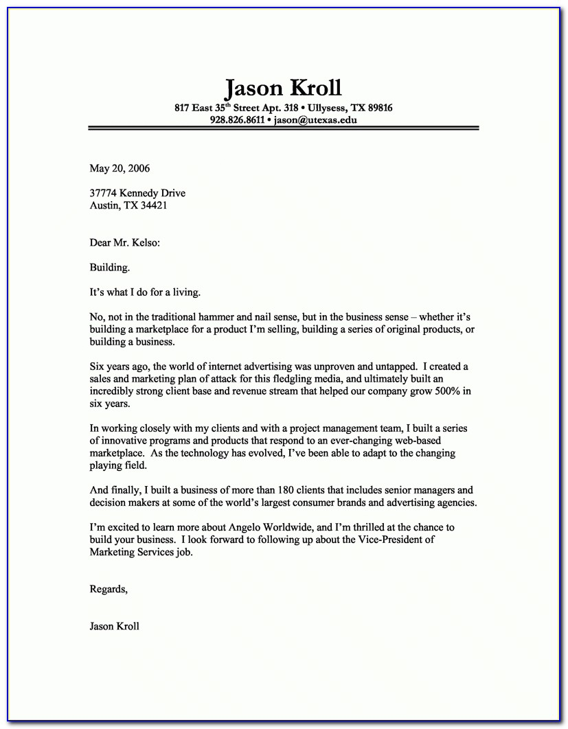 How To Write A Professional Cover Letter 40 Templates Resume Within Proper Cover Letter Format