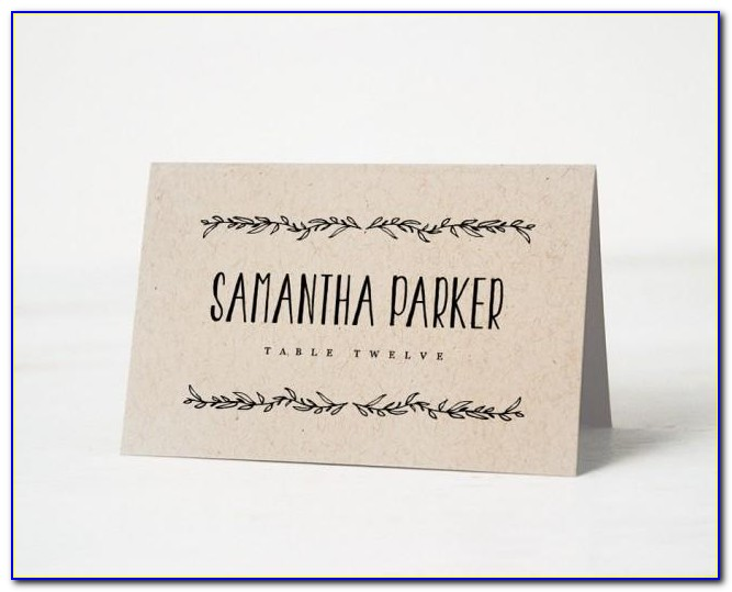 How To Write Wedding Name Place Cards