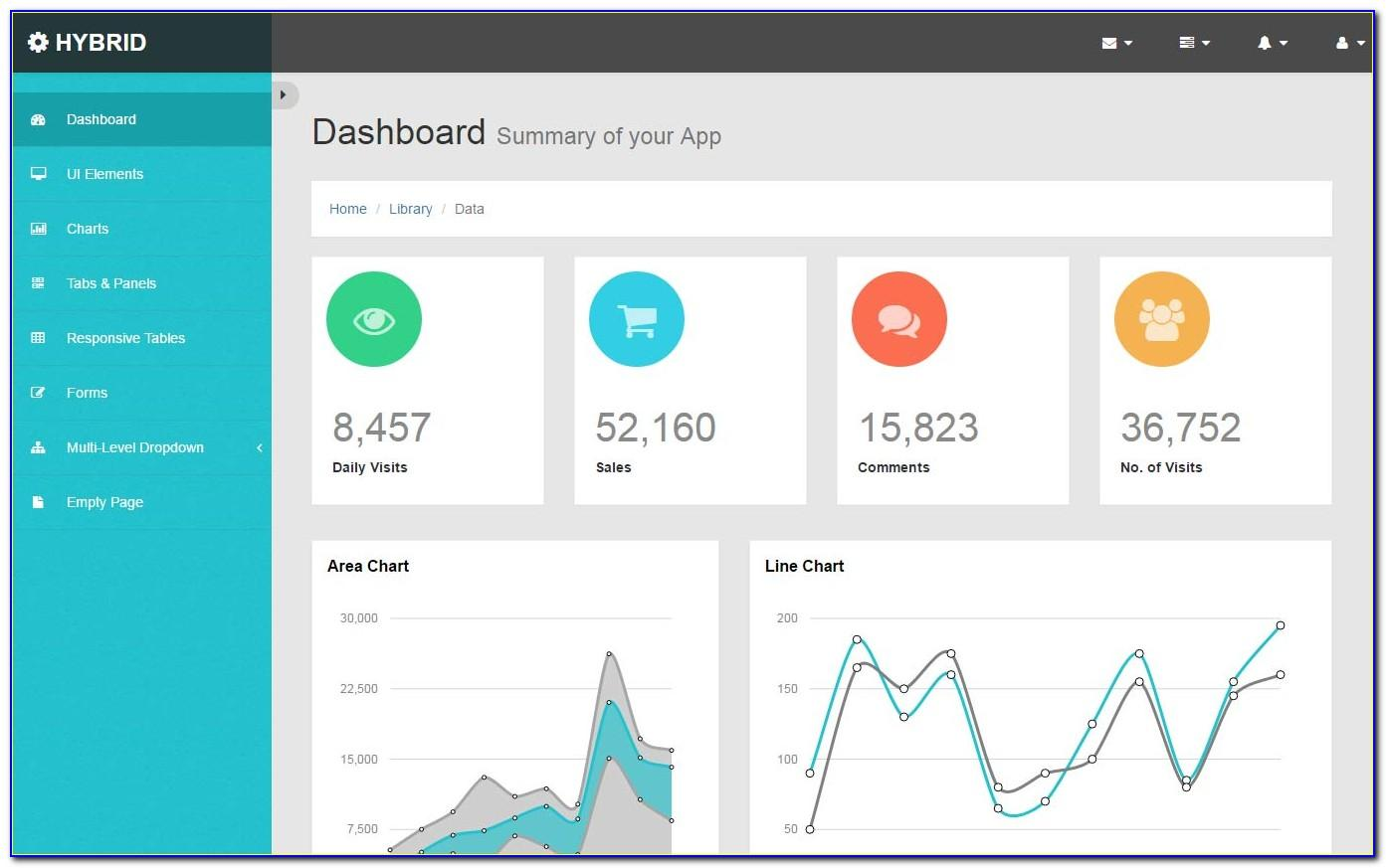 Html5 Admin Dashboard Template Free Download