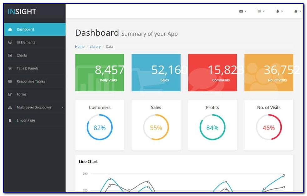 Html5 Dashboard Templates Free Download