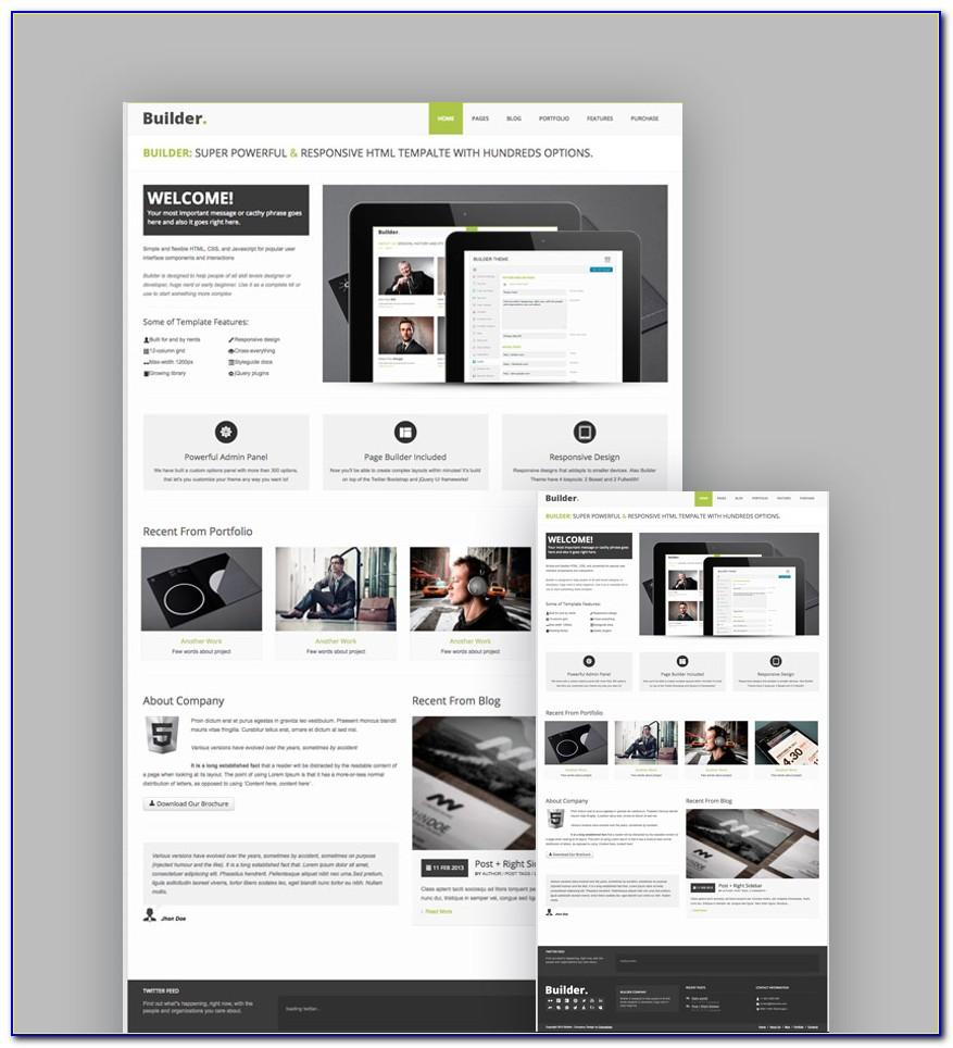 Html5 Responsive Web Template Free Download