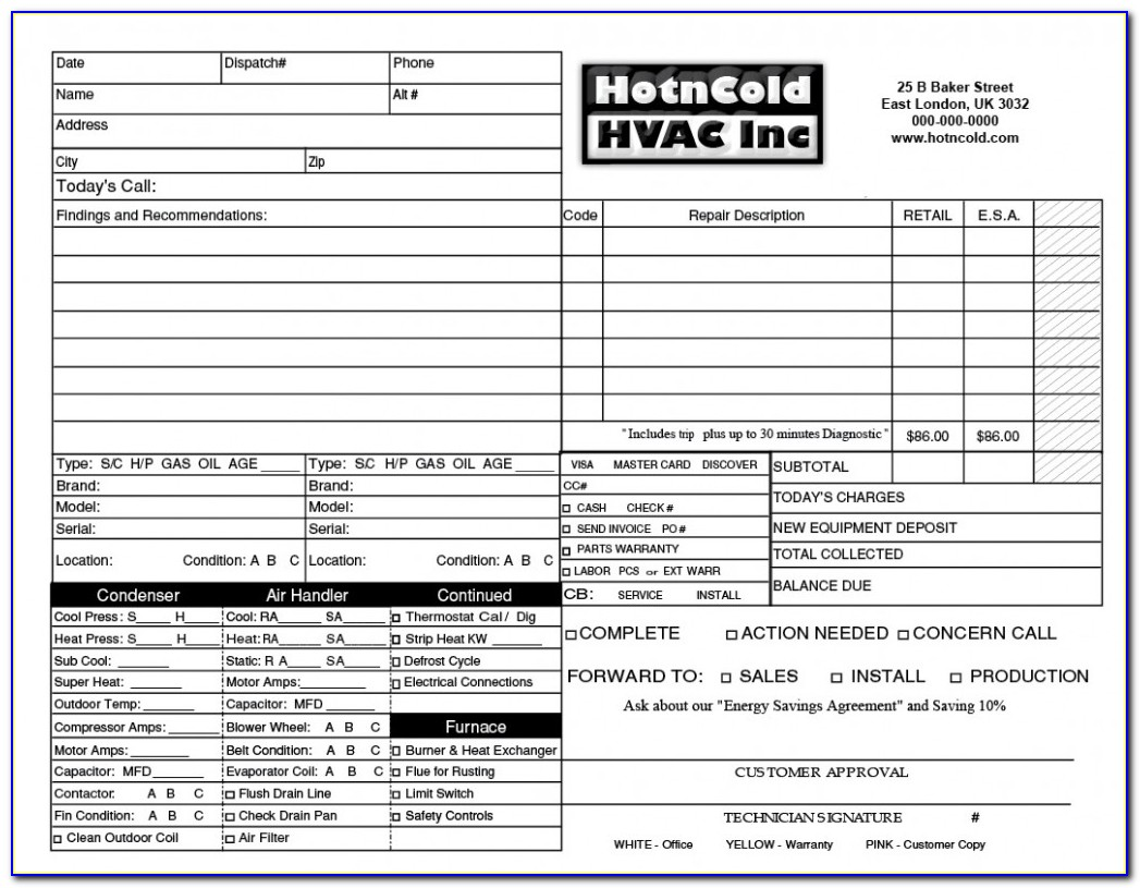 Hvac Quote Template Excel
