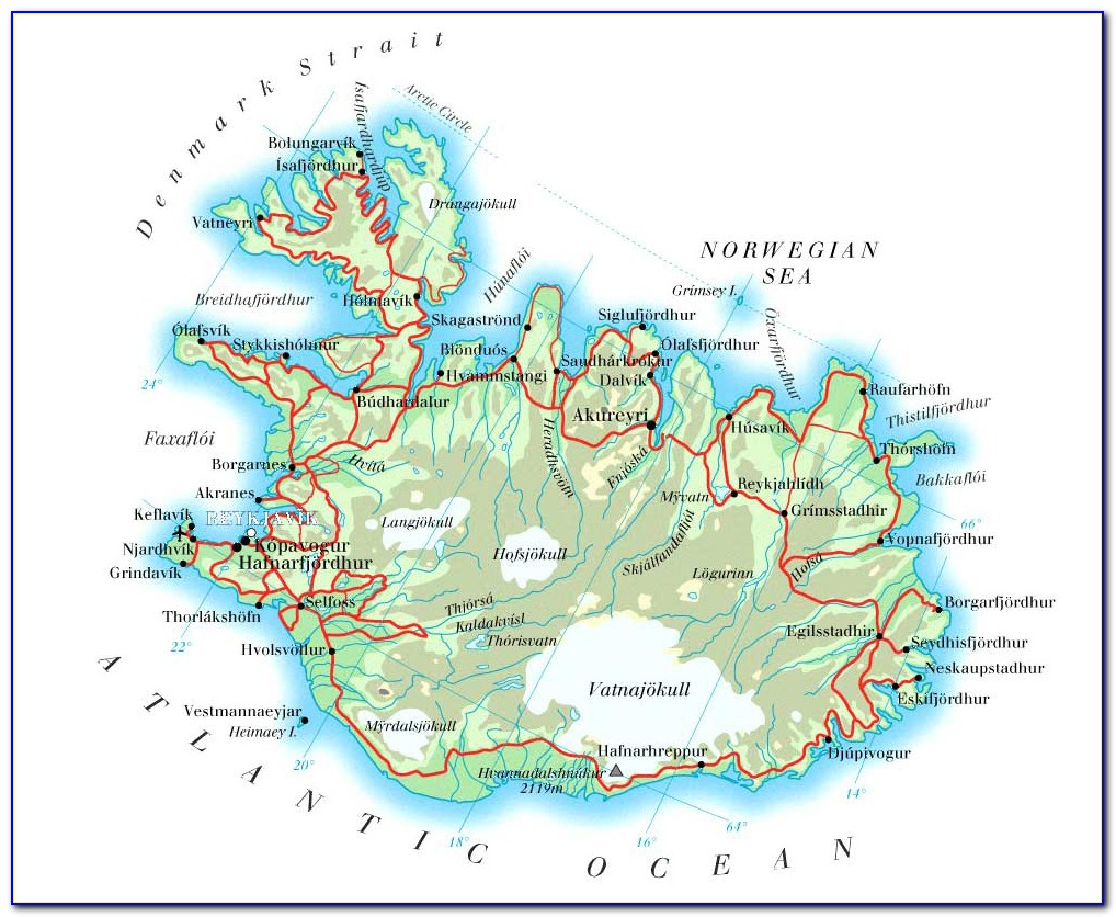 Iceland F Road Maps