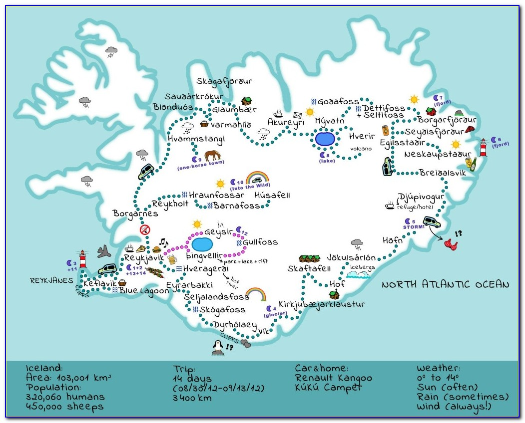 Iceland Road Trip Maps
