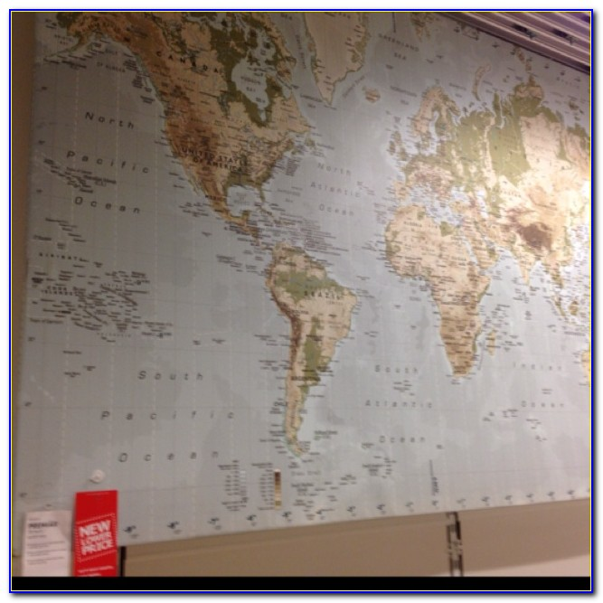 Ikea World Map Canvas Ebay