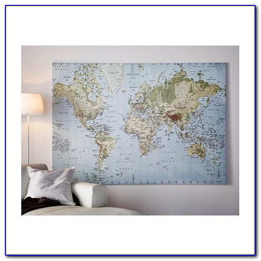 Ikea World Map Canvas Instructions