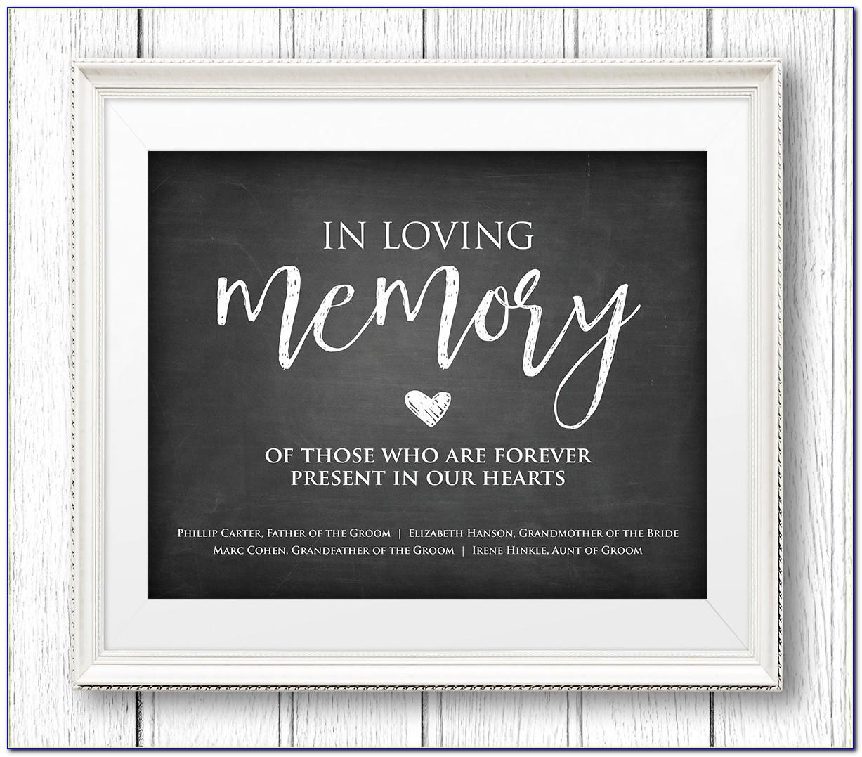 In Loving Memory Decal Templates