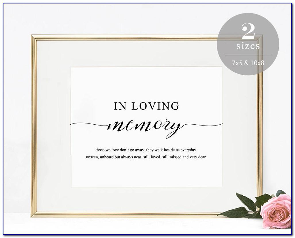 In Loving Memory Template Free Download