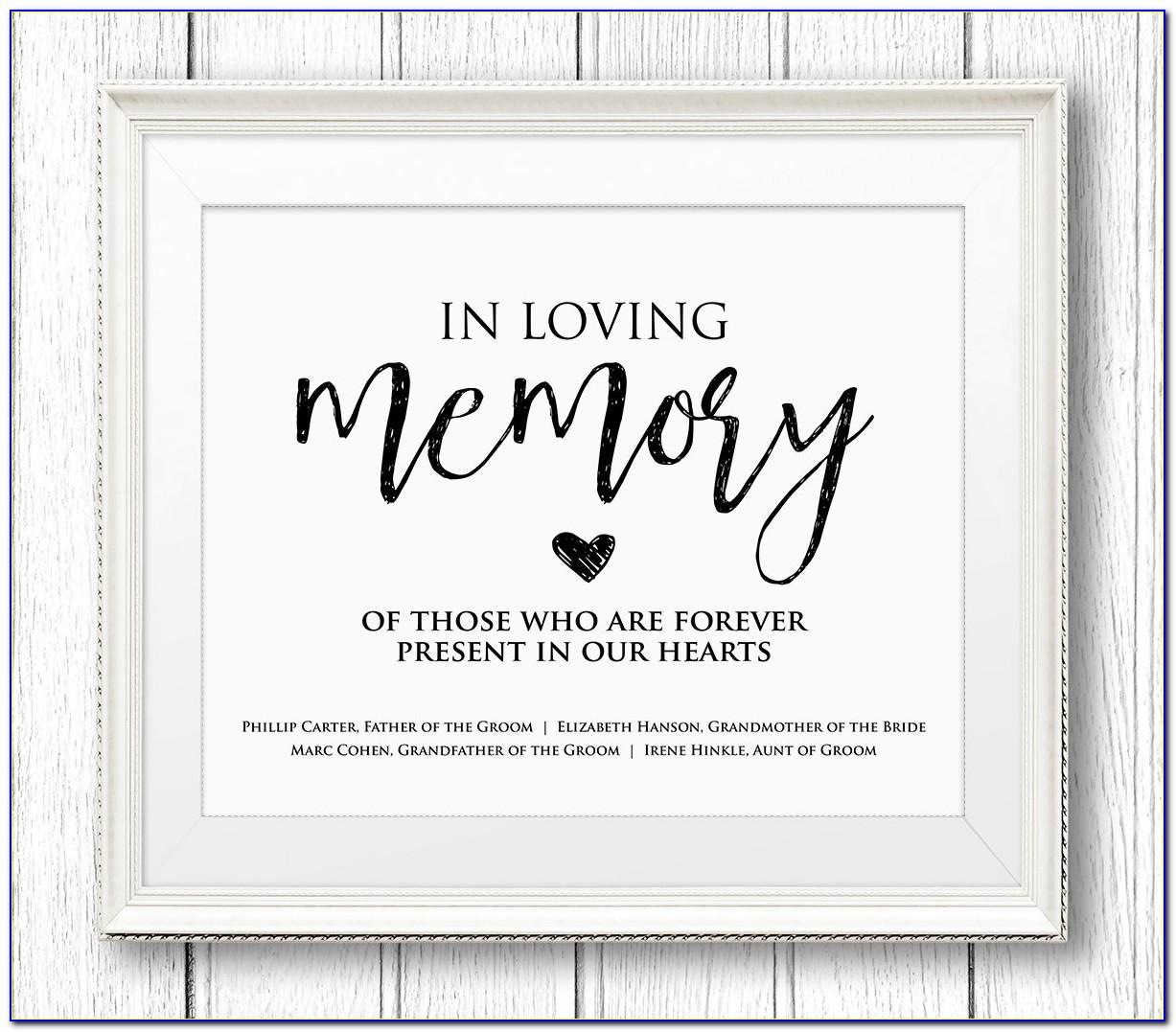 In Loving Memory Template Free