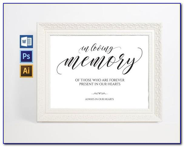 In Loving Memory Template Psd