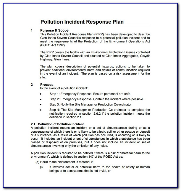 Cyber Security Incident Response Plan Template Nist Vincegray2014