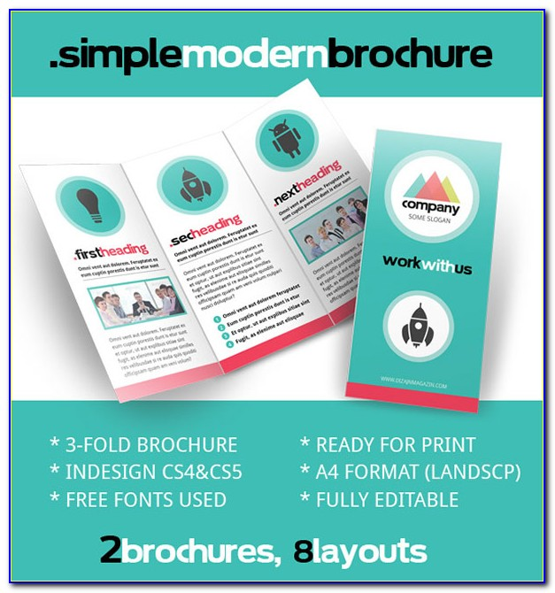 Indesign Brochure Template Tri Fold