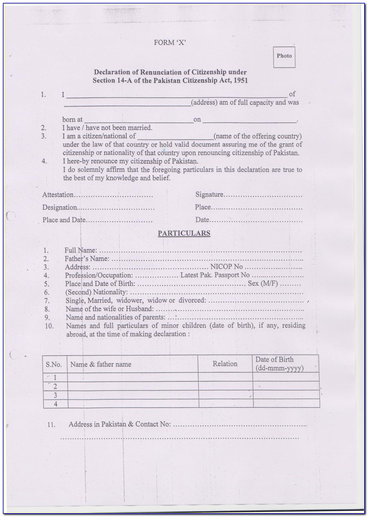 Indian Visa Requirement For Pakistani Nationals