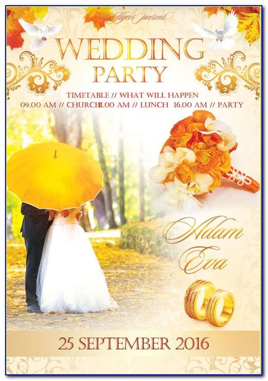 Indian Wedding Card Design Template Free Download