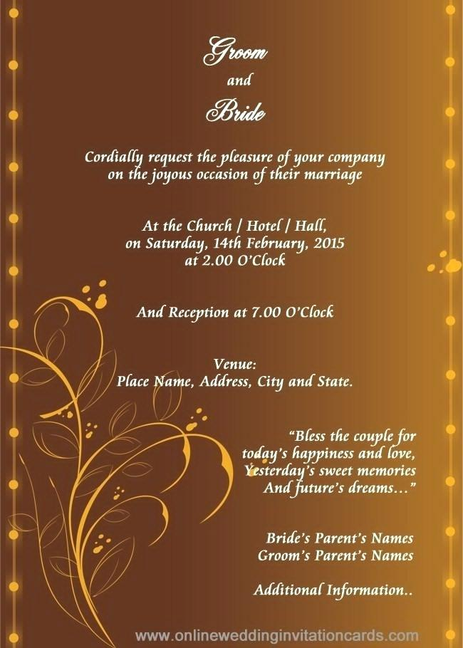 Indian Wedding Invitation Card Template Online