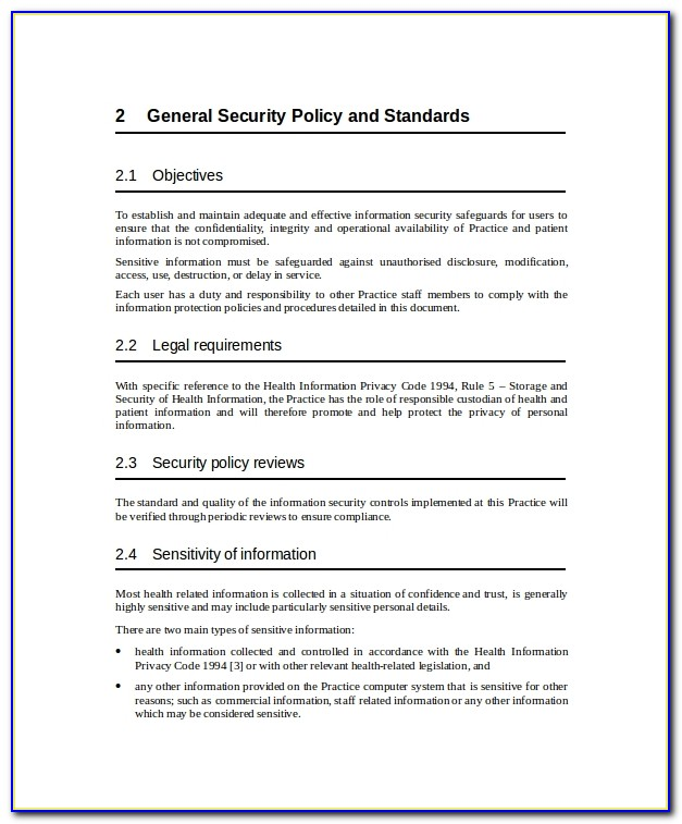 Infosec Policy Samples