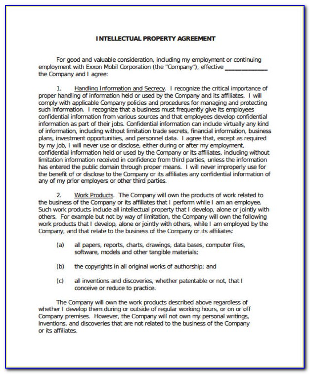 Intellectual Property Transfer Agreement Form