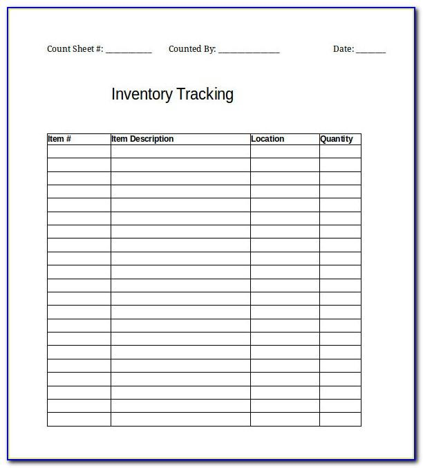 Inventory Tracking Spreadsheet Example