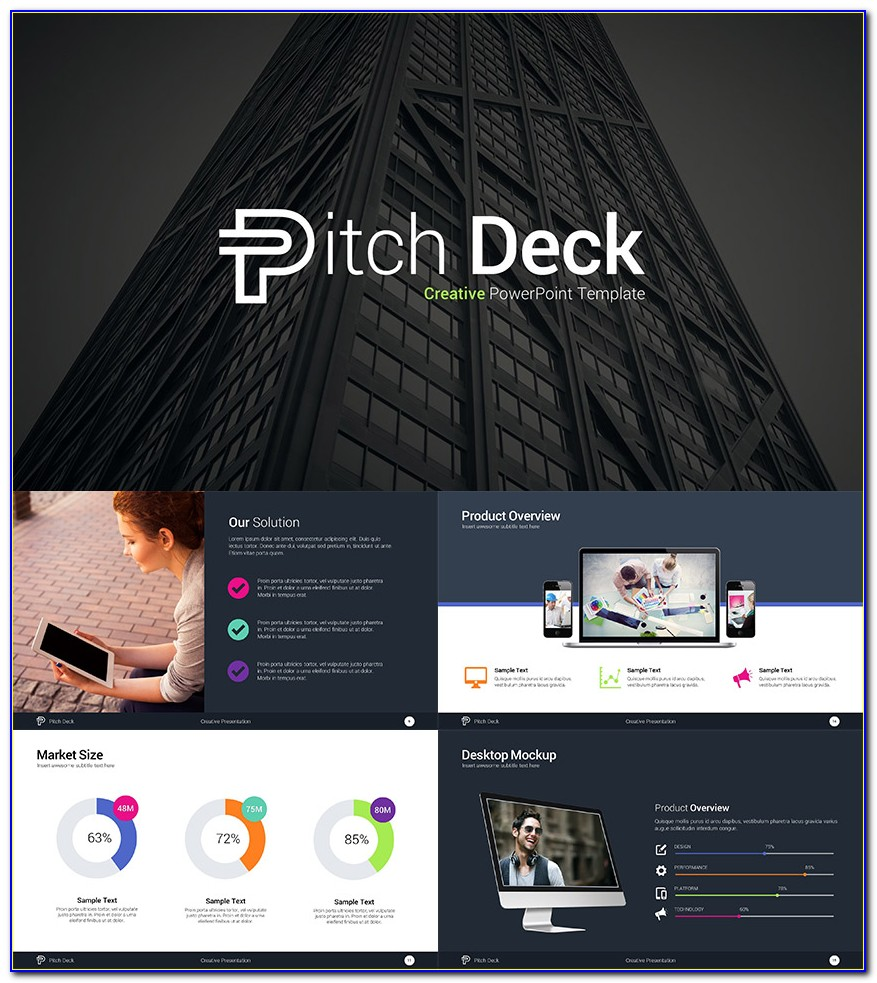 Investor Pitch Deck Powerpoint Template Free Download