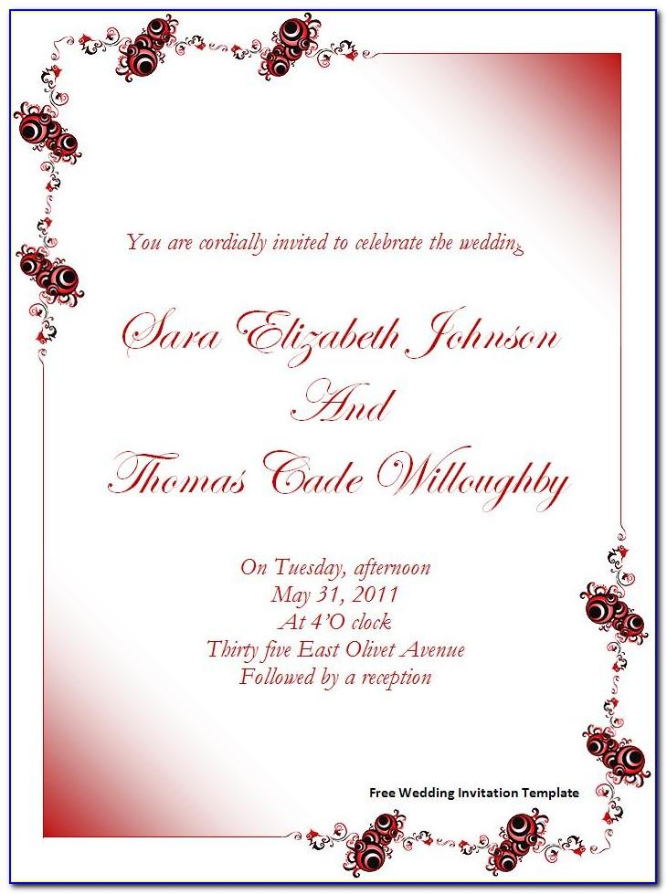 Invitations Templates Free Online