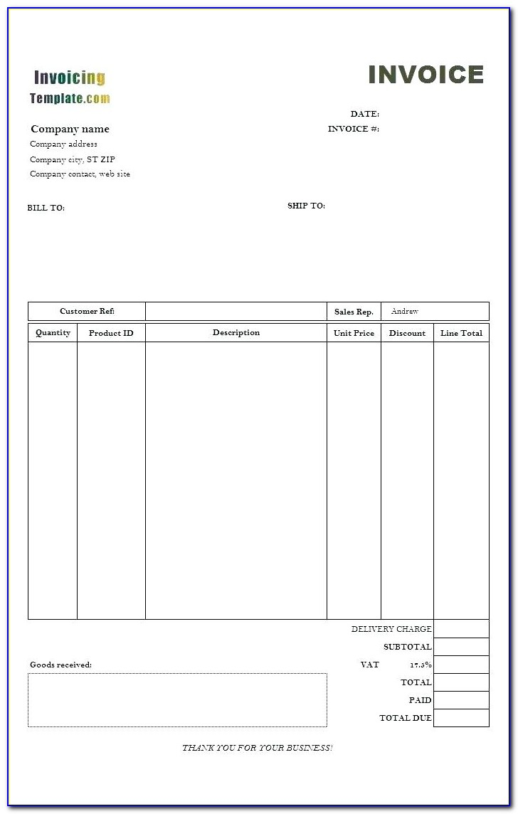 Invoice Example For Freelance Work
