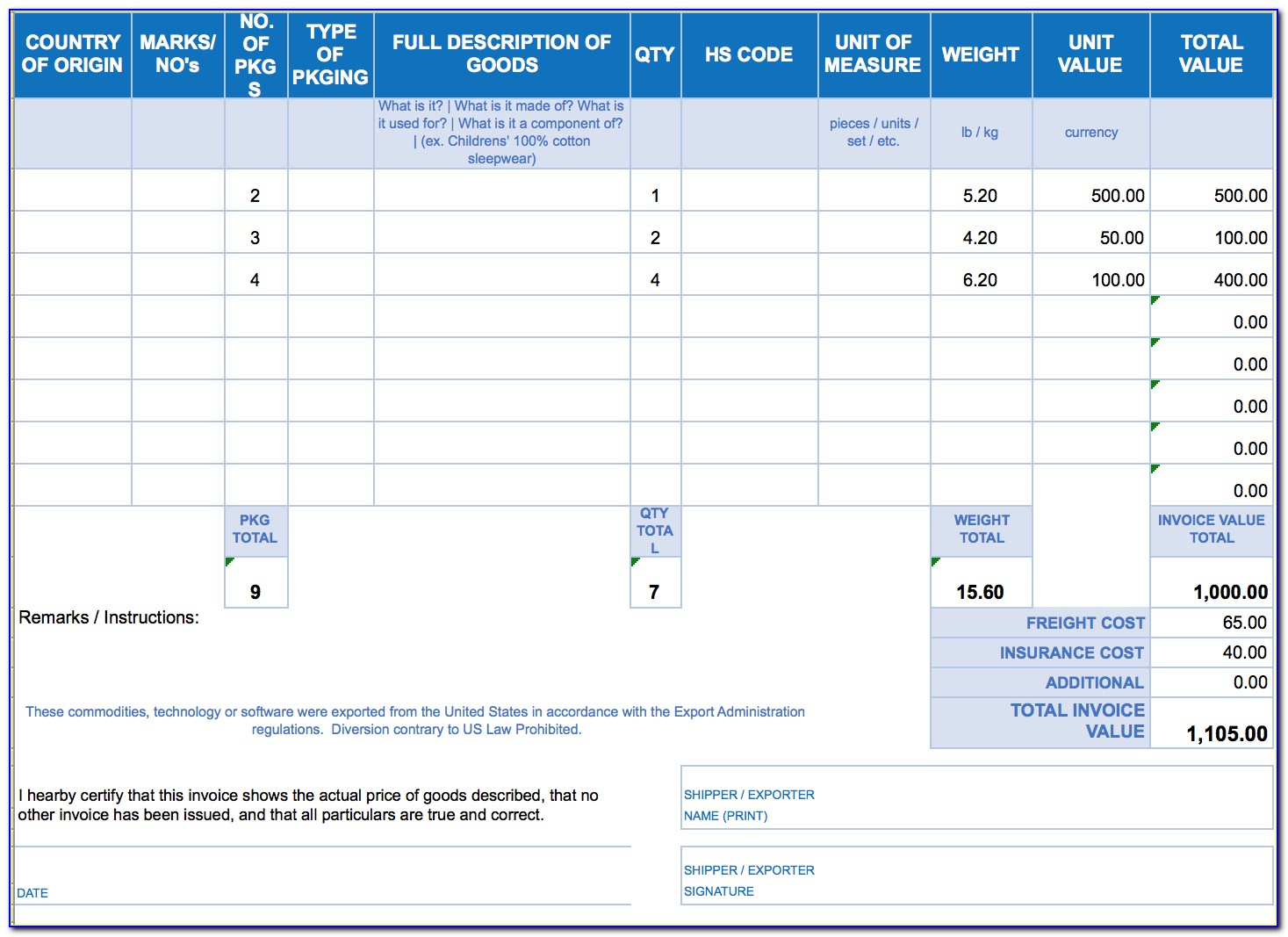 Invoice Software Template Free