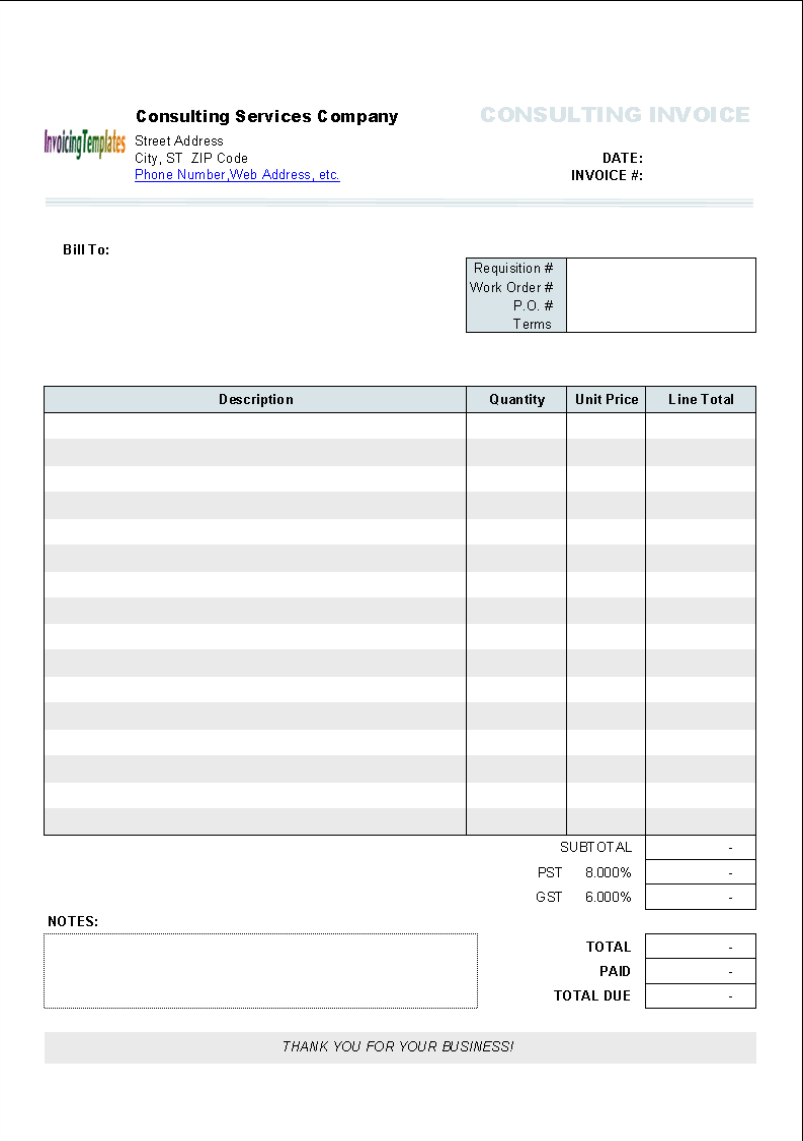 Invoice Template For Apple Numbers