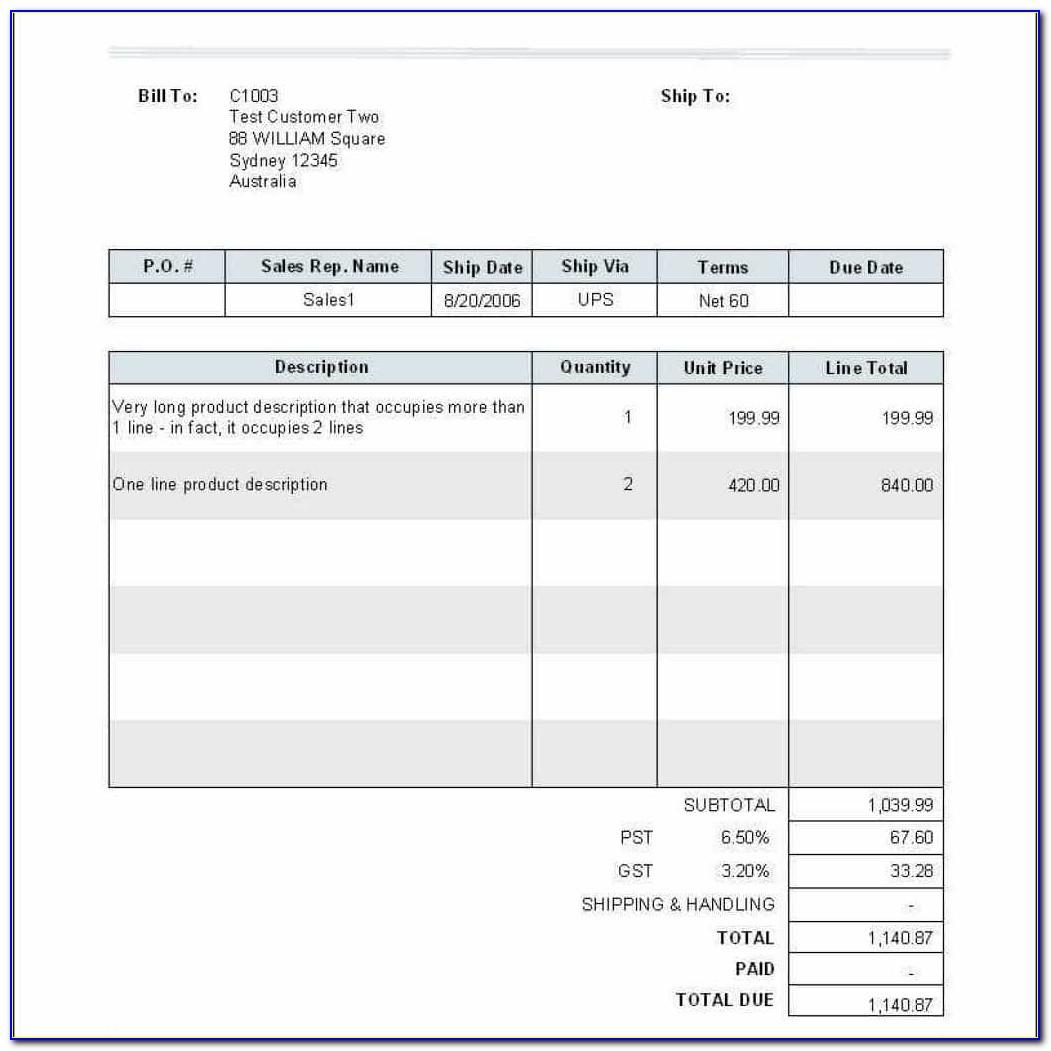Invoice Template Numbers Mac Free