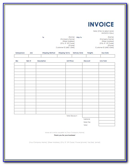Invoice Tracking Spreadsheet Template Free