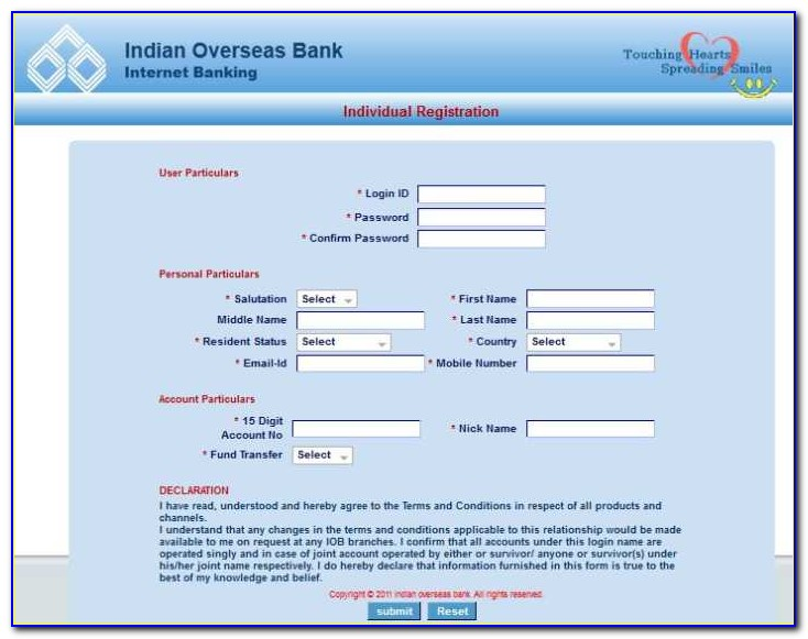 Iob Credit Card Application Form Pdf