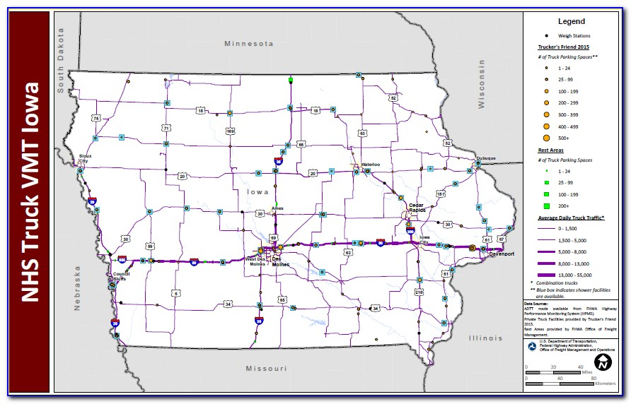 Iowa Dot Weigh Stations Map