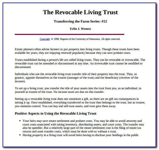 Irrevocable Trust Template Maine