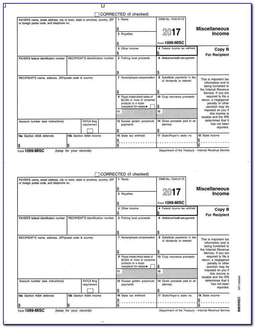 Irs 1099 Form 2015 Printable