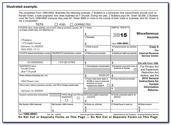 Irs 1099 Misc Form 2016